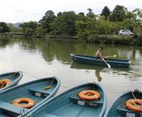 堀から楽しむ城下町 兵庫・篠山城跡 手こぎボート人気