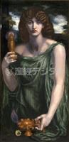【ラファエル前派の軌跡展】馬丁の娘、女神に「ムネーモシューネー」