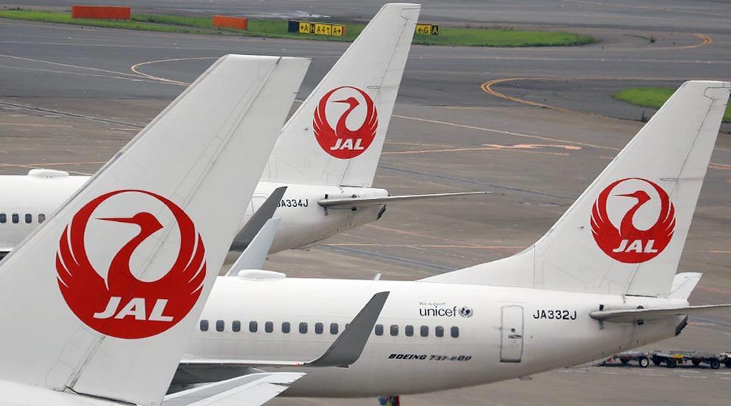 羽田空港に駐機される日本航空機