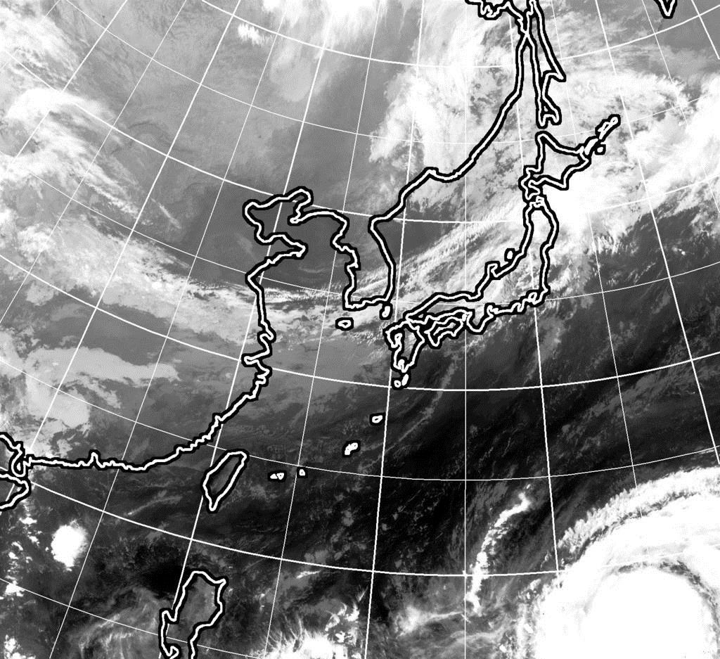 10月8日午前9時現在のひまわり雲画像