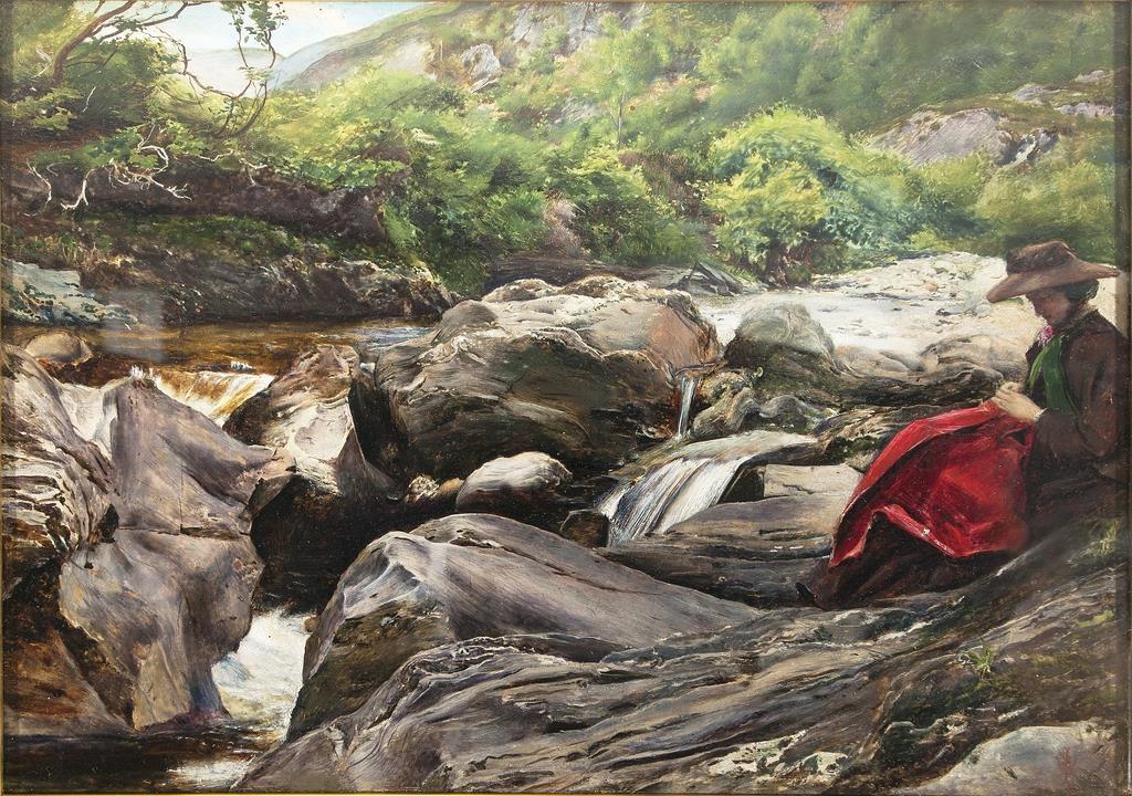 ジョン・エヴァレット・ミレイ《滝》1853年、油彩/板、23.7×33.5cm、デラウェア美術館 (c) Delaware Art Museum, Samuel and Mary R. Bancroft Memorial, 1935