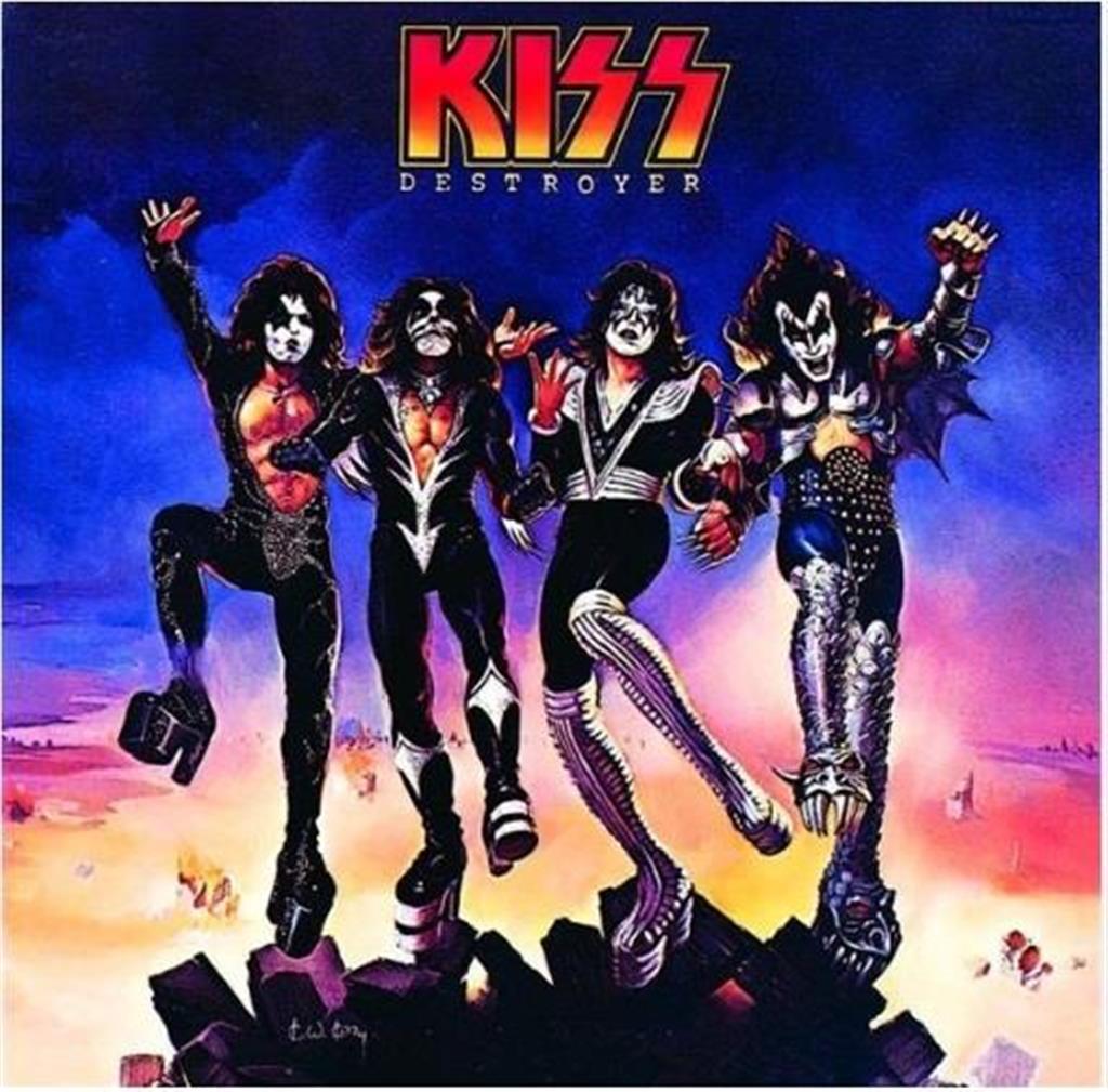 1976年に発売されたKISS(キッス)4作目のスタジオアルバム「地獄の軍団」