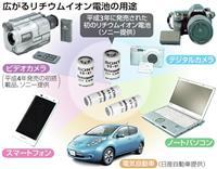 ノーベル化学賞・リチウムイオン電池 スマホから自動車まで生活支える