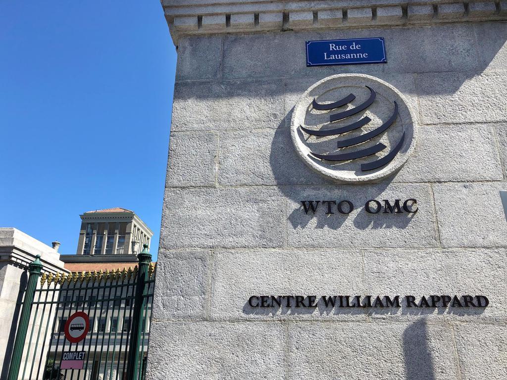 スイス西部ジュネーブにあるWTO本部(共同)