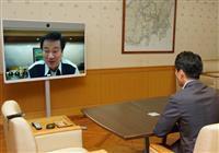 豚コレラ対策で群馬・山本知事、千葉・森田知事、埼玉・大野元裕知事とテレビ会議