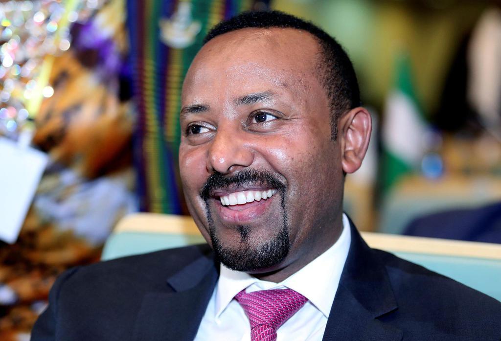 アフリカ連合(AU)の会合に出席したエチオピアのアビー首相=1月17日、エチオピア首都アディスアベバ(ロイター)