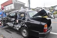 バス衝突、2人搬送 栃木・鹿沼の交差点