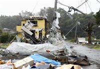 千葉県の竜巻被害、住宅1棟全壊、4人けが