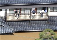 【台風19号上空ルポ】濁流にのみ込まれた街 乳児抱えベランダから救助求める女性の姿