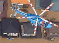 【台風19号上空リポート】救助に大阪府警ヘリも 千曲川氾濫