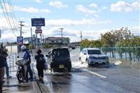 【台風19号】浸水で道路寸断「まるで池」 宮城・柴田町の阿武隈川流域