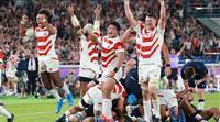 日本、史上初の決勝トーナメント進出 スコットランドを撃破 ラグビーW杯