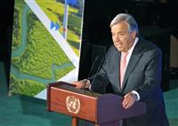 国連総長、台風被害に哀悼