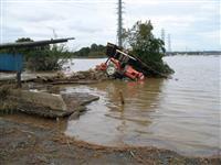 【台風19号】河川の氾濫で集落や国道が冠水 水戸市北西部の渡里町など