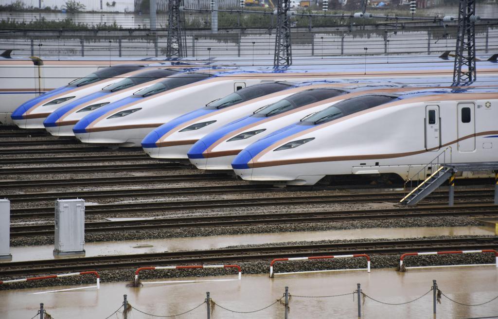 台風19号】最大浸水10メートル以上の危険性… 水没した新幹線車両 ...