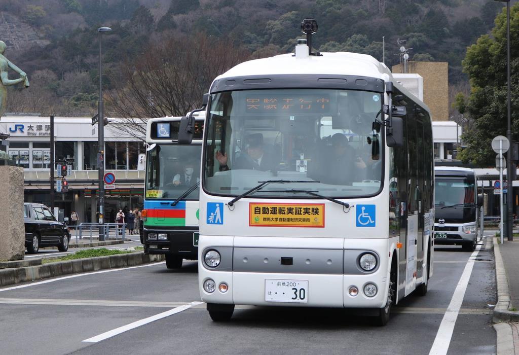 自動運転バス、来年末にも運行 大津市が来月実証実験