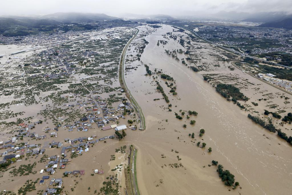 【台風19号】千曲川浸水、最大4・3メートル 長野市、地理院…