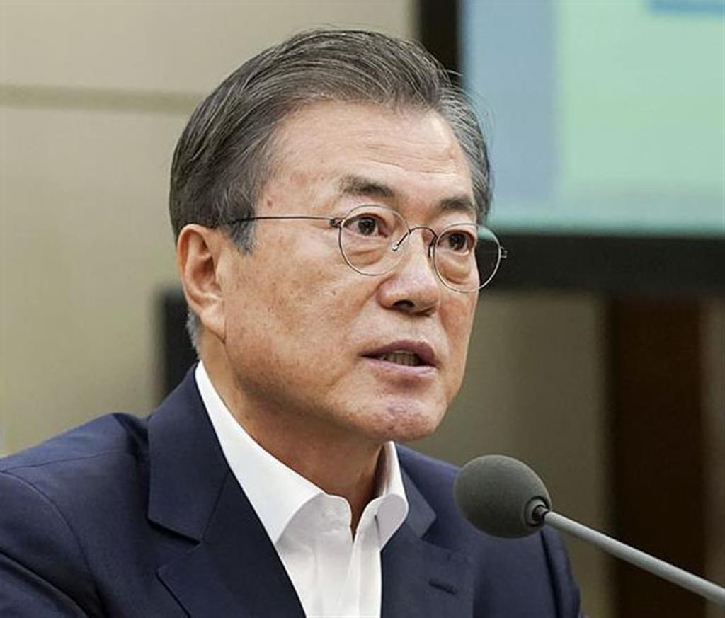 韓国の文在寅大統領(大統領府提供・共同)