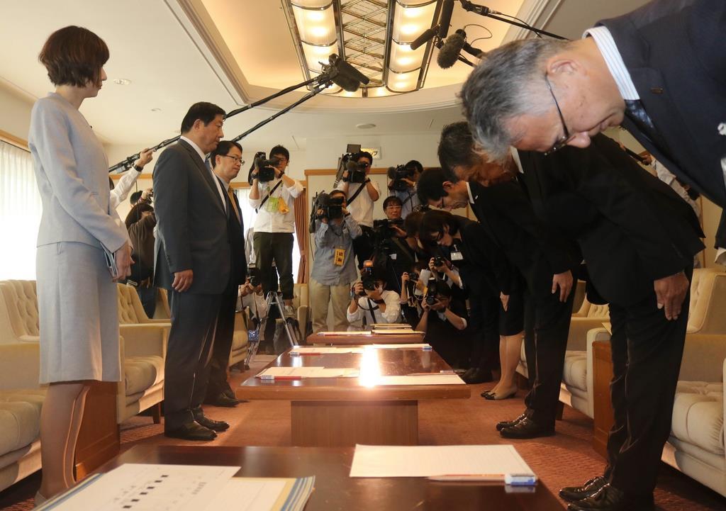 文科副大臣が教育長と面談 神戸の教諭いじめ