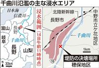 【台風19号】全流域で強い雨、川幅狭い場所で詰まったか 千曲川決壊
