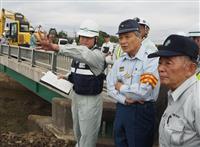 【台風19号】今週末には堤防仮復旧 栃木県の福田知事、佐野の被災地視察