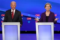 バイデン氏、ウクライナ疑惑で反論 米大統領選討論会