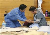 首相、台風被災地を視察 福島の避難所で要望聞く