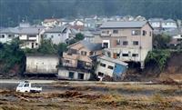 【台風19号】「ミシッ」雨が止んだ後、沈んだ住宅 東京・あきる野