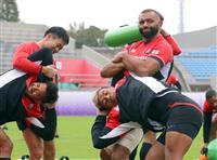 日本代表が準々決勝の南ア戦へ全体練習 ラグビーW杯