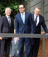 米中調印へ鋭意交渉 米財務長官が会見 デジタル課税「仏と合意近い」