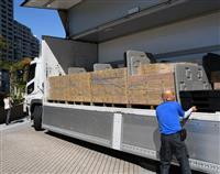台風で断水の相馬市へ東大阪市が支援物資