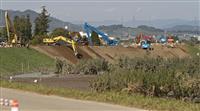 決壊の千曲川に仮堤防 「ひと安心」と被災住民