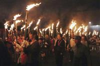 「避難の明かり」目指せ 和歌山で稲むらの火祭り