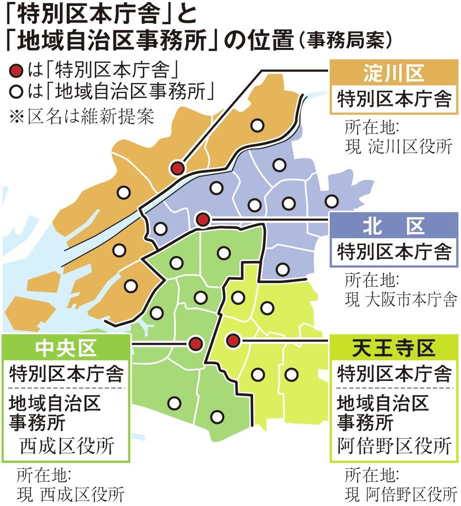 大阪都構想ややこしい? 区名・区役所の呼称、継承方針 - 産経ニュース