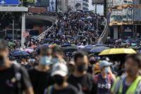 香港デモ「35万人が参加」 覆面禁止法「市民をさらに怒らせた」