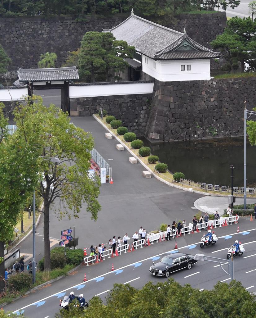 「祝賀御列の儀」のリハーサル=10月6日、東京都千代田区(鴨川一也撮影)