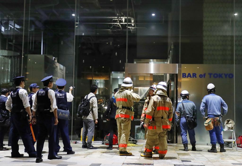 東京・丸の内、ビルでぼや 1階飲食店、配線火元か
