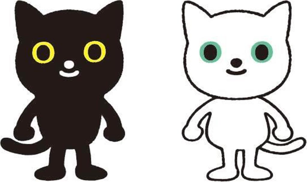ヤマトホールディングスが11月29日にリニューアルする「クロネコ・シロネコ」の新キャラクター(同社提供)