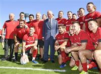 【ラグビーW杯】チャールズ皇太子がウェールズ代表を激励