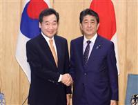 安倍首相、韓国・李首相と会談 関係改善は韓国次第