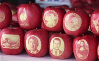 青森弘前の絵入りリンゴ、今年も仏へ