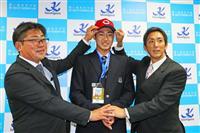 広島3位指名の霞ケ浦・鈴木「3年以内に1軍マウンドに」