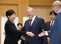 IOC幹部と都知事会談 五輪マラソン移転案巡り