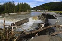 福島で3人負傷、浸水も 低気圧による豪雨
