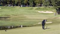 開始遅れ、設定も変更 千葉豪雨で米ゴルフ「ZOZOチャンピオンシップ」