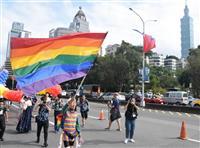 台北でLGBTパレード、同性婚合法化後初めて
