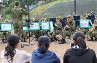 台風被災者らに心の安らぎ 長野で陸自音楽隊が慰問演奏会