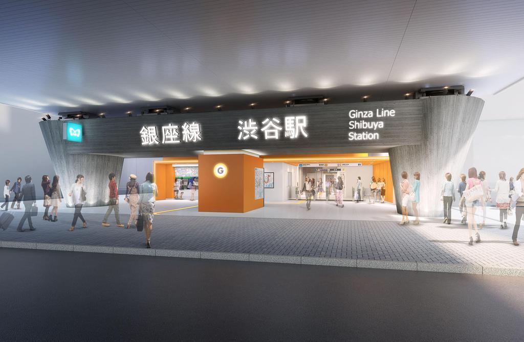 移設後の銀座線渋谷駅に新たにできる明治通り側の改札イメージ(東京メトロ提供)