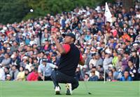 ウッズ暫定首位で最終ラウンドが再開 男子ゴルフのZOZOチャンピオンシップ