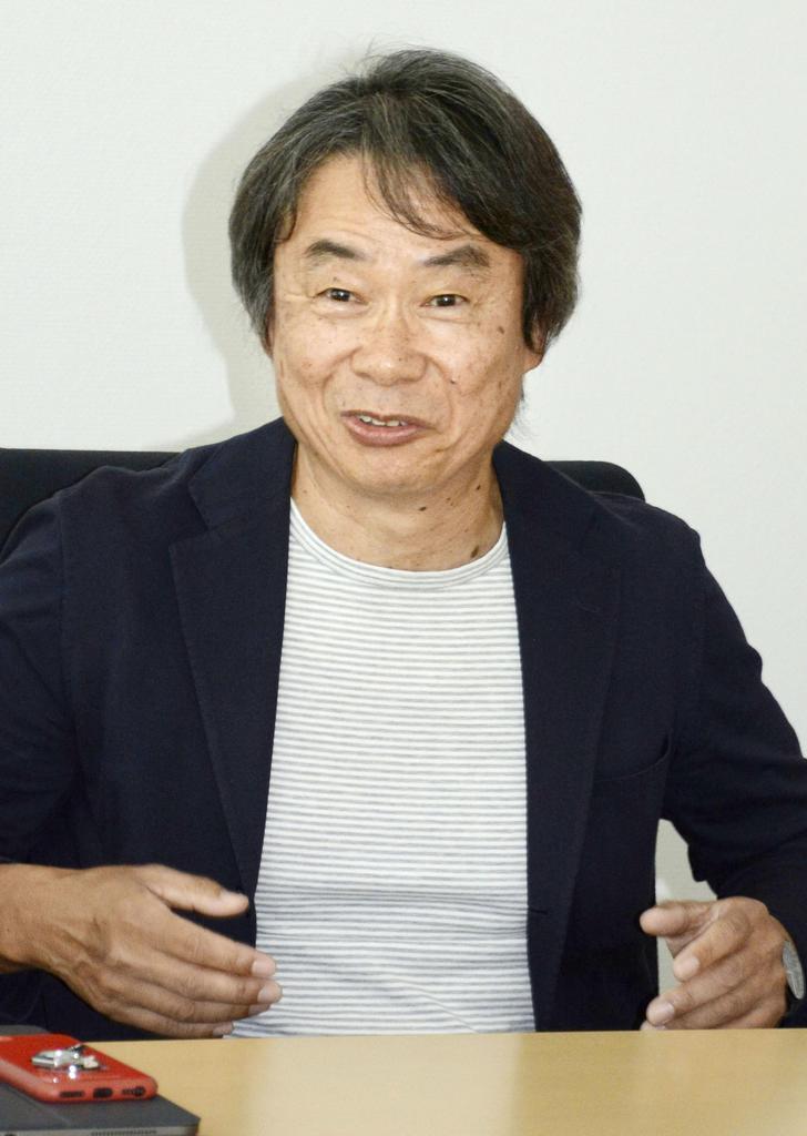 文化功労者に決まり心境を語る任天堂代表取締役フェローの宮本茂さん